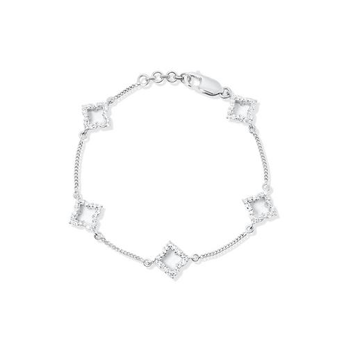 Grandeur Rait Rose Silver Bracelet