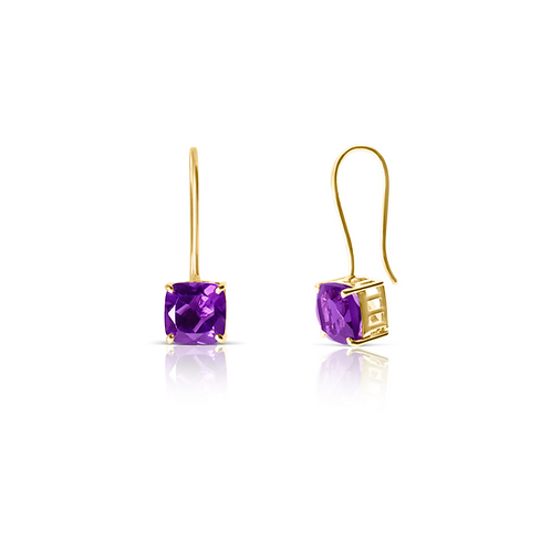 Amaira Amethyst Hook Earrings