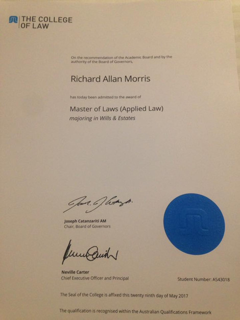 Master of Laws - Wills and Estates