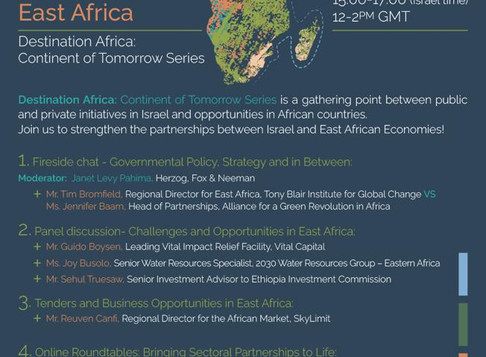 Israel and East Africa – Five takeaways from the webinar