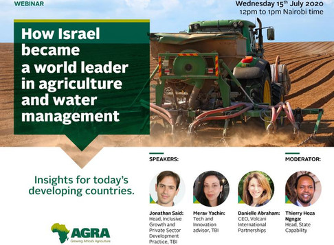 How Israel became a world leader in agriculture and water: watch the webinar