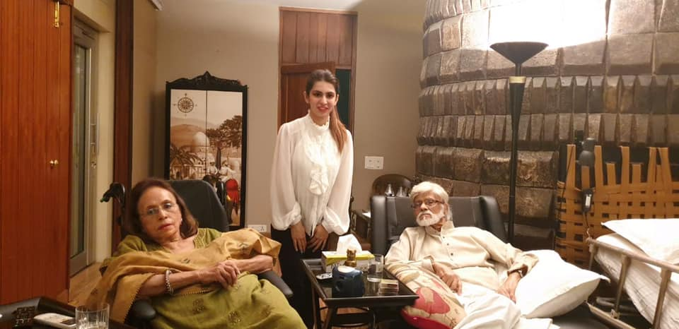 With Kiran and Satish Gujral at their home in Delhi
