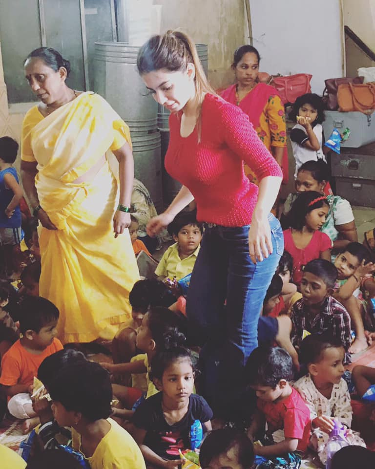 At Balwadi in Versova teaching NGO kids