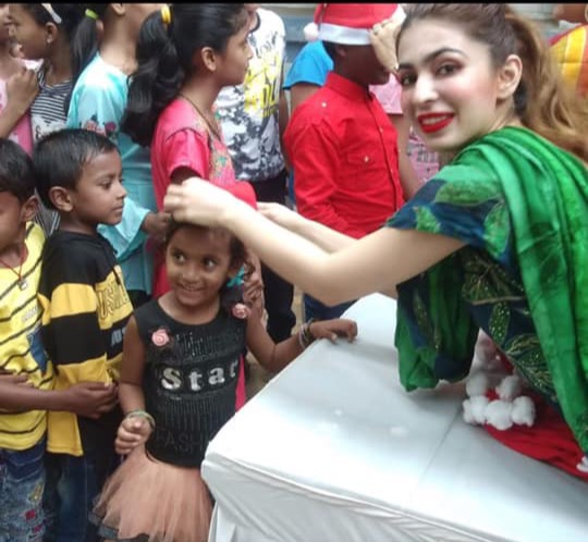 Celebrating Xmas 2019 with kids of our NGO