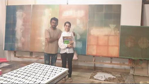 """MANISH PUSHKALE explains the purpose of """"light"""" in his works to Aashna Abrol."""