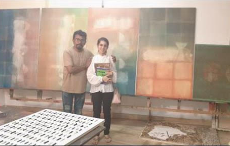 "MANISH PUSHKALE explains the purpose of ""light"" in his works to Aashna Abrol."