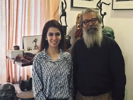 Aashna Abrol discusses smiling figurines with KS RADHAKRISHNAN