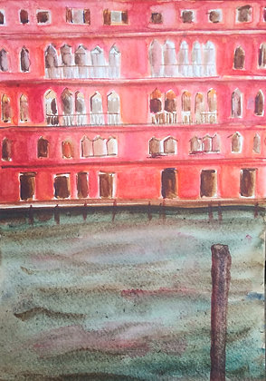 Venezian palace red