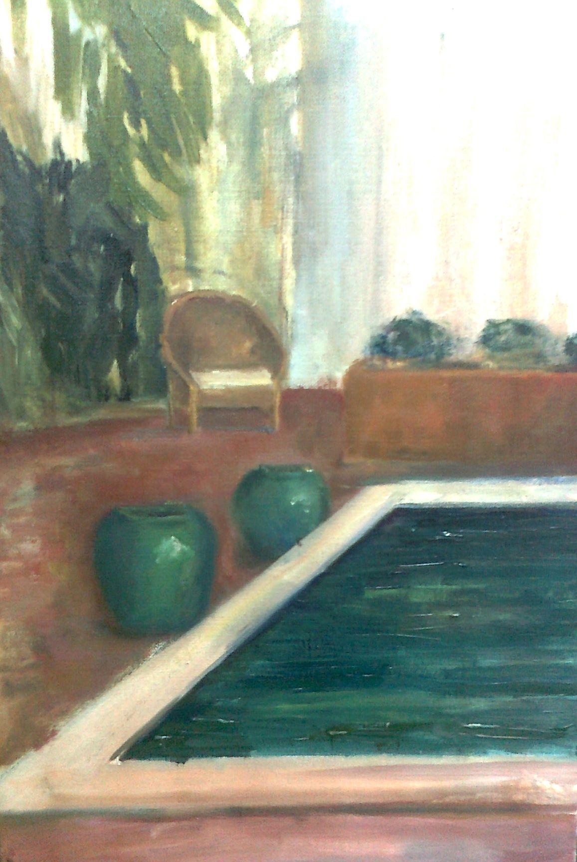 El estanque verde azulado 33x55_Veronica