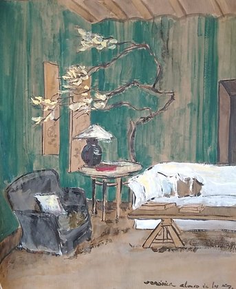 Japanese room in green