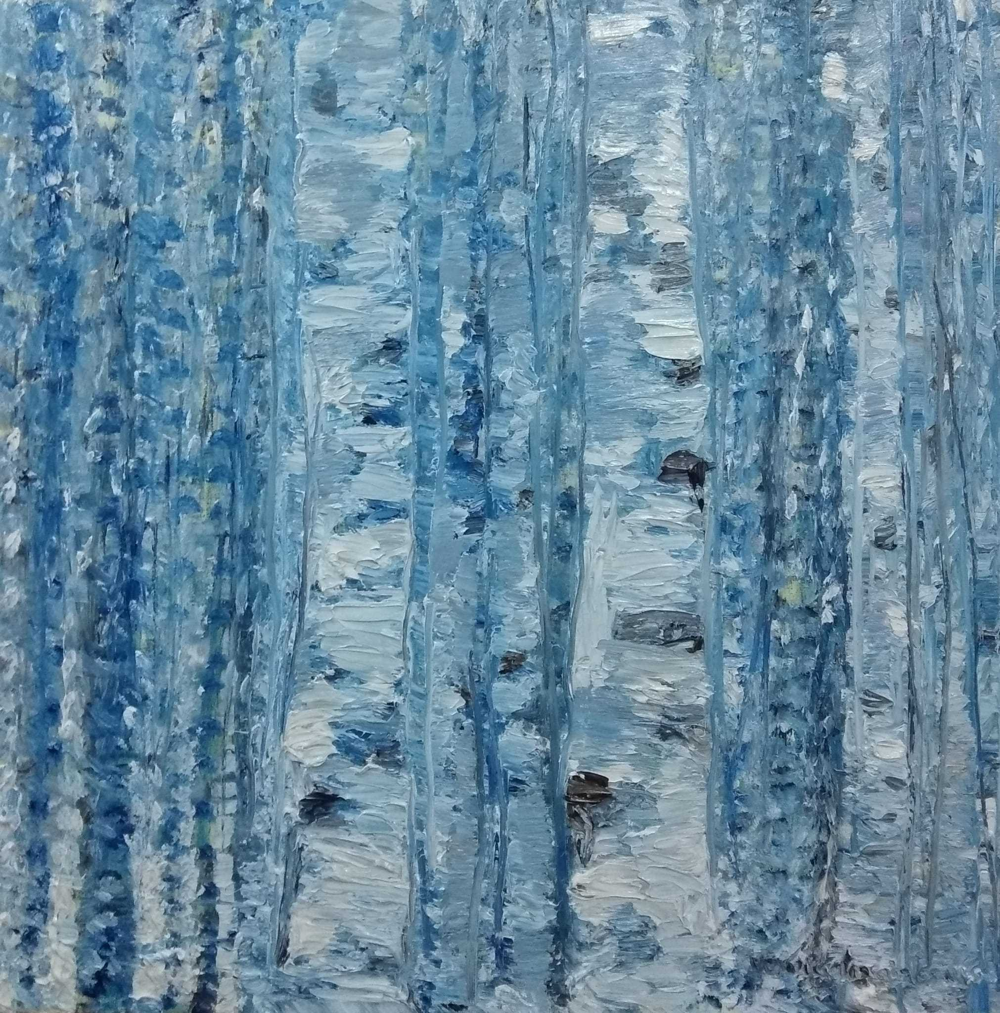 Blue birches I_ VeronicaAlonsodelosRios.