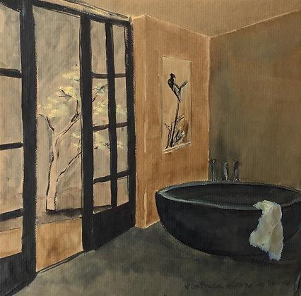 Bath in black