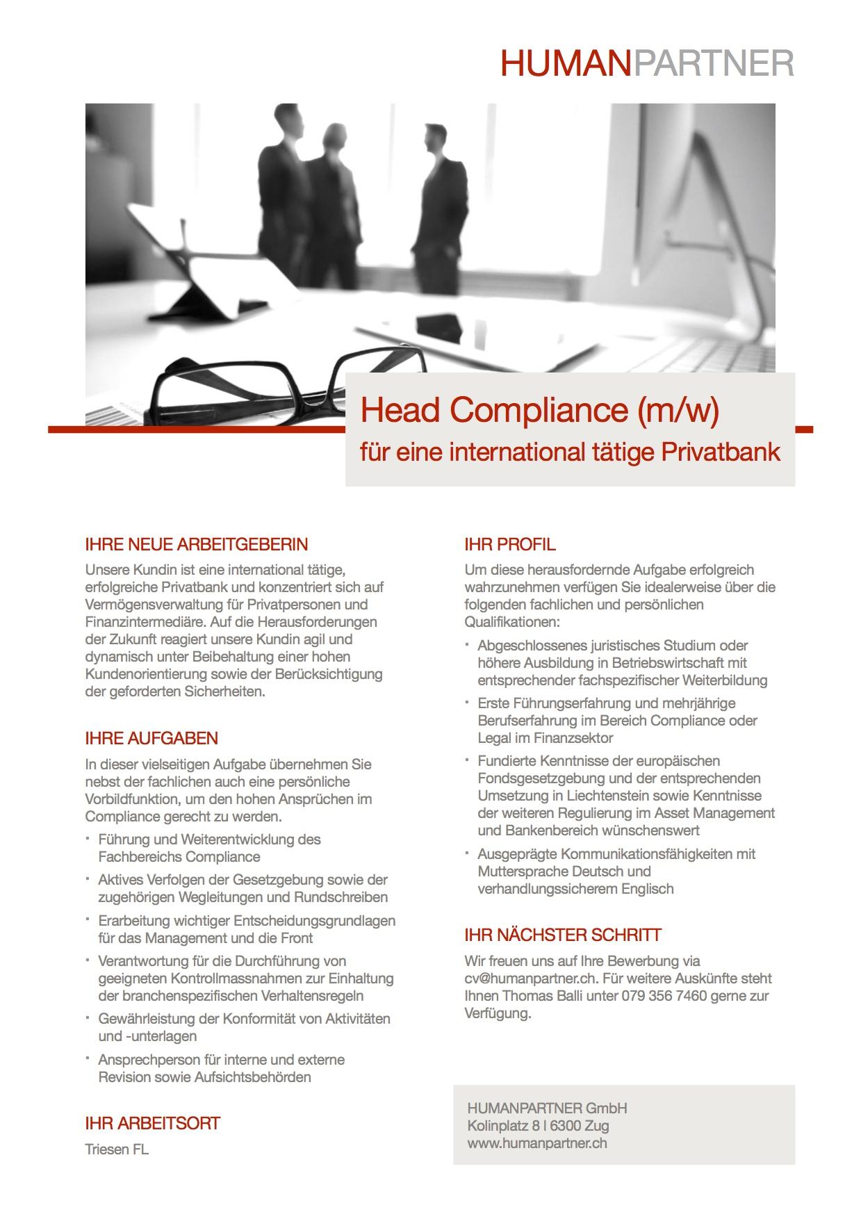Head Compliance - 2018