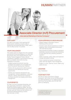 Associate Director - Procurement