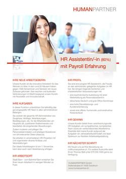 HR Assistenz mit Payroll - 2018