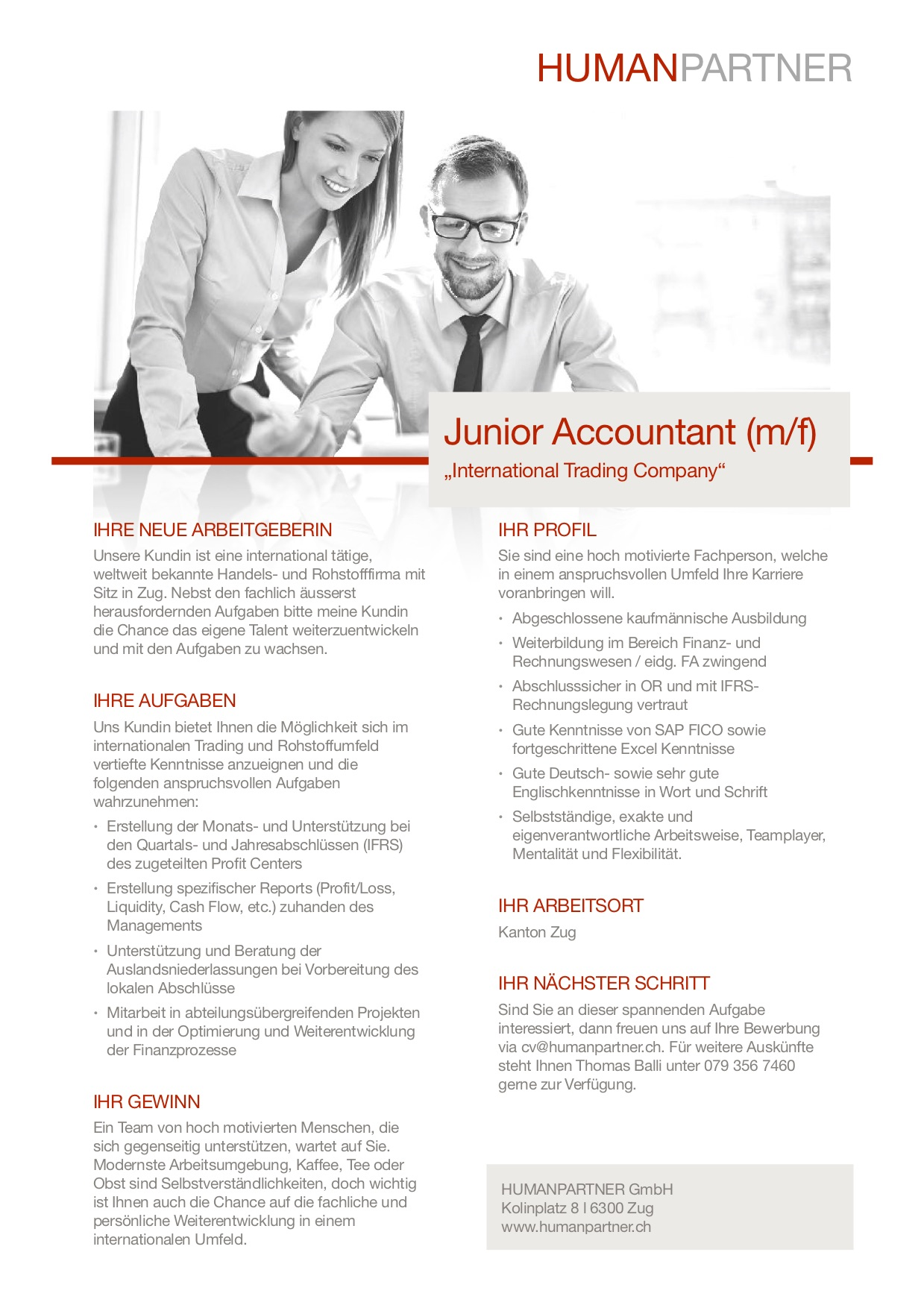 Junior Accountant - 2019