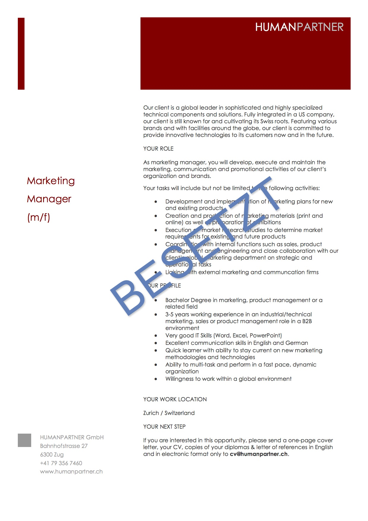 Marketing Manager
