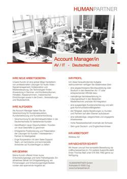 Account Manager_in AV IT - 2018