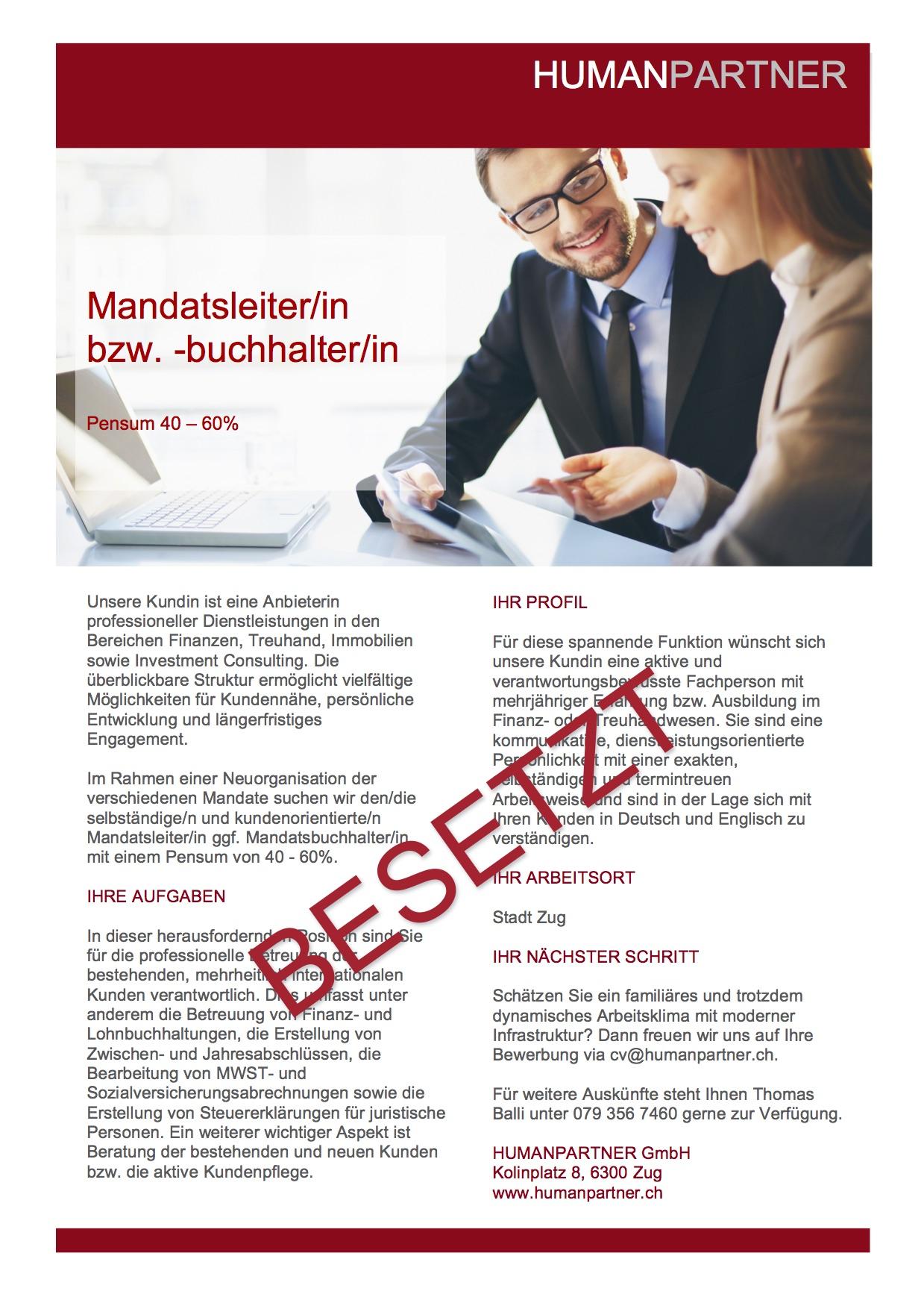 Mandatsleitung Zug 2016