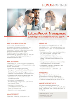 Leitung Product Management - 2019