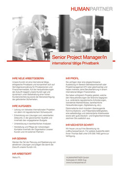 Senior Project ManagerIn - 2018
