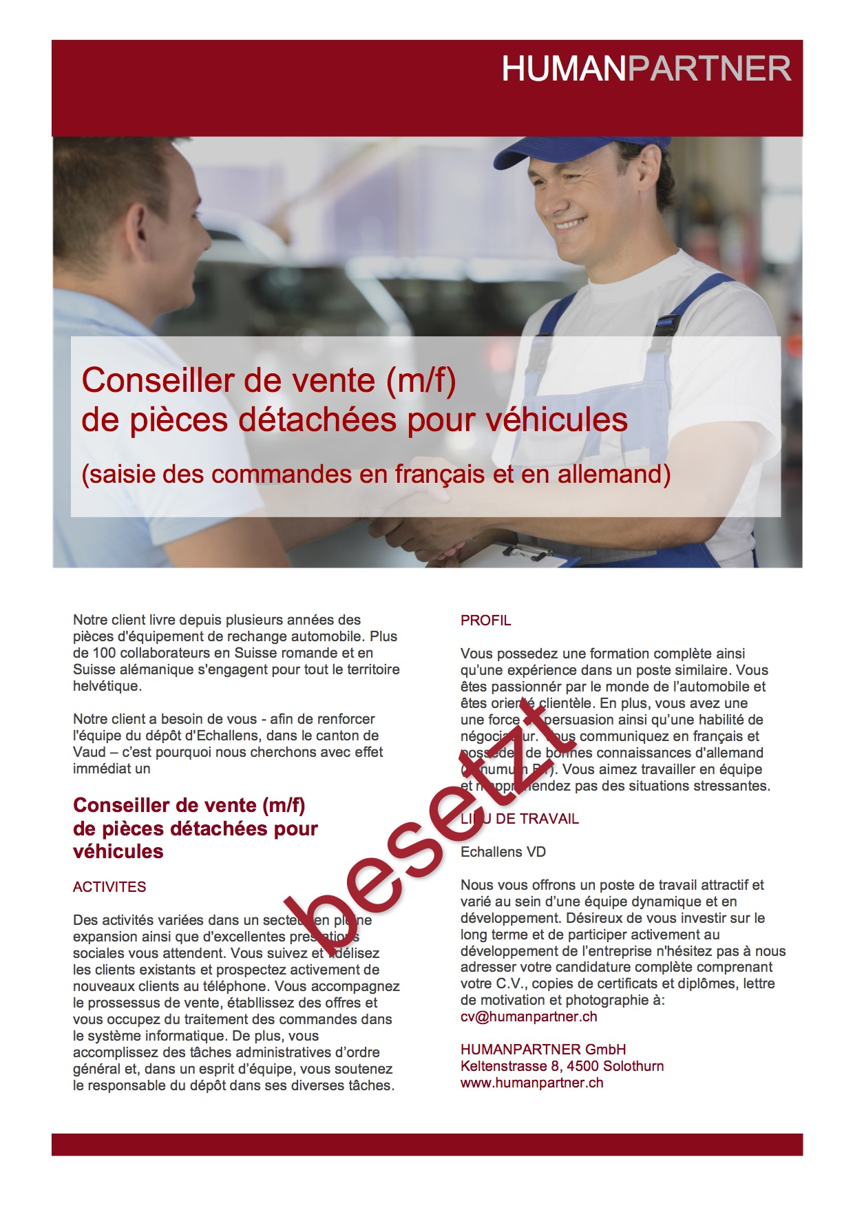 specialiste du commerce - 2017