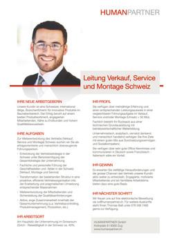 Leitung Vertrieb Schweiz  - 2020
