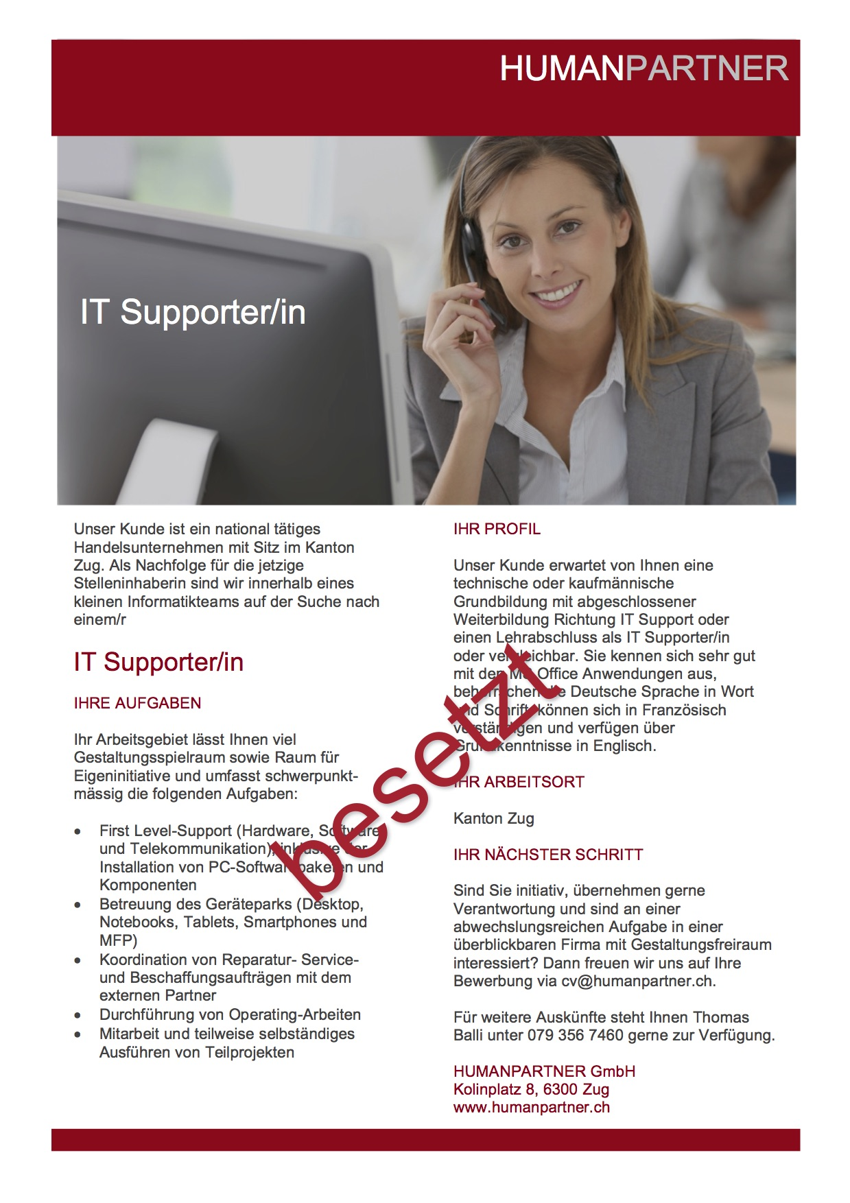 IT SupporterIn 2017