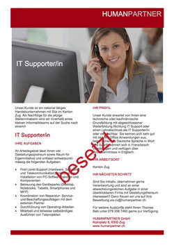 IT SupporterIn 2017