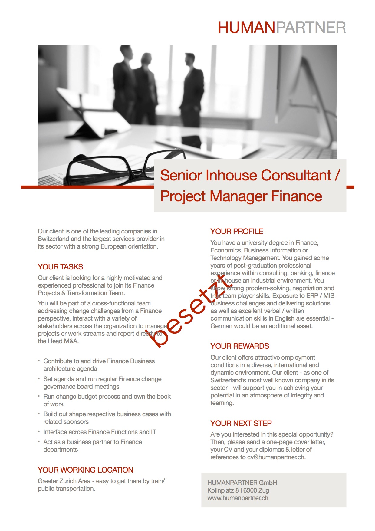 Inhouse Consultant Finance MA - 2018 E