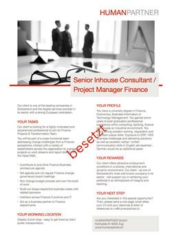 Inhouse Consultant Finance MA - 2018 E