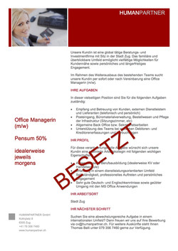 Office ManagerIn 2016 April