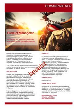 Product ManagerIn Motorrad - 2017