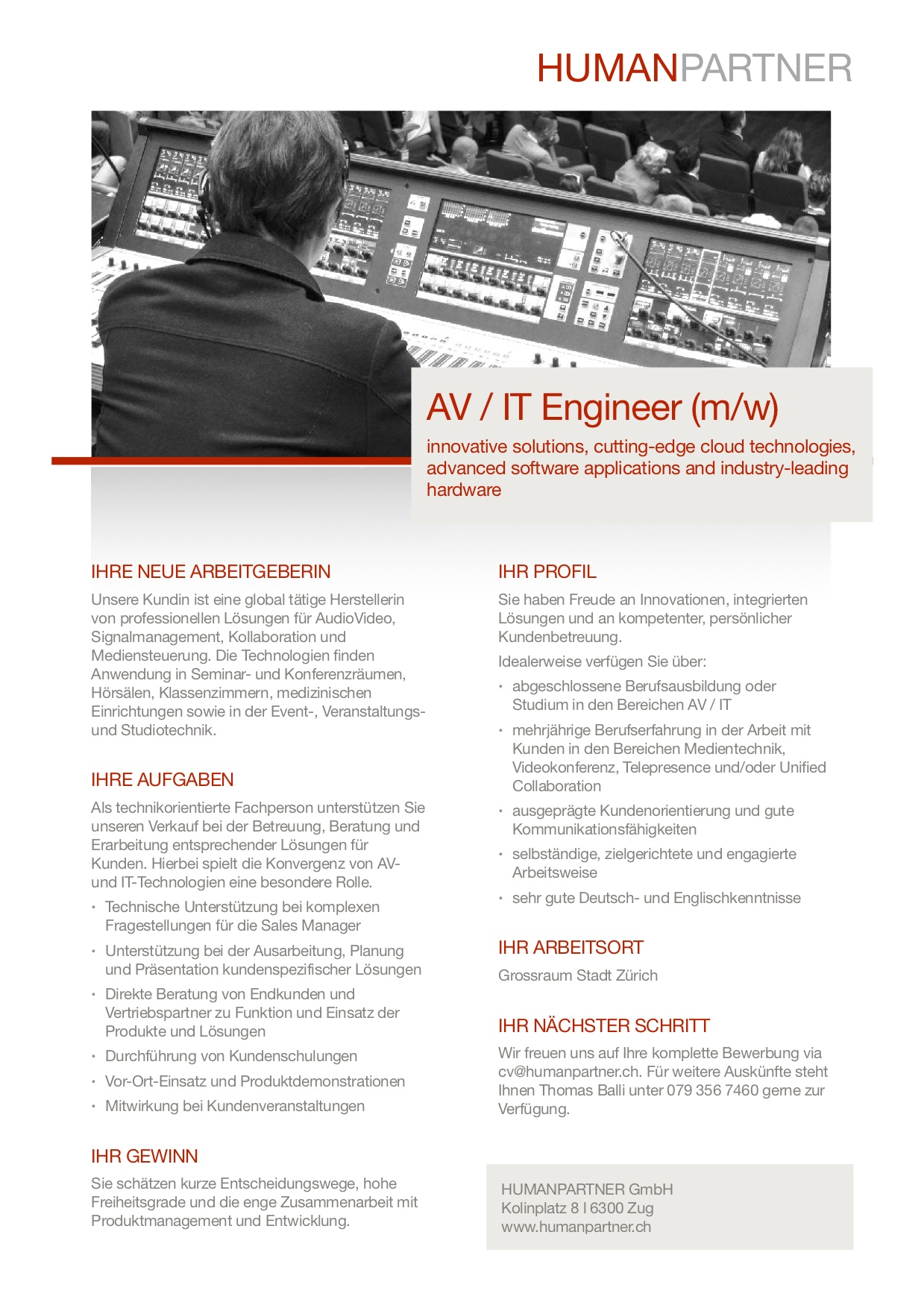 AV IT Engineer - 2018