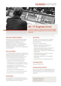 AV IT Engineer - 2018