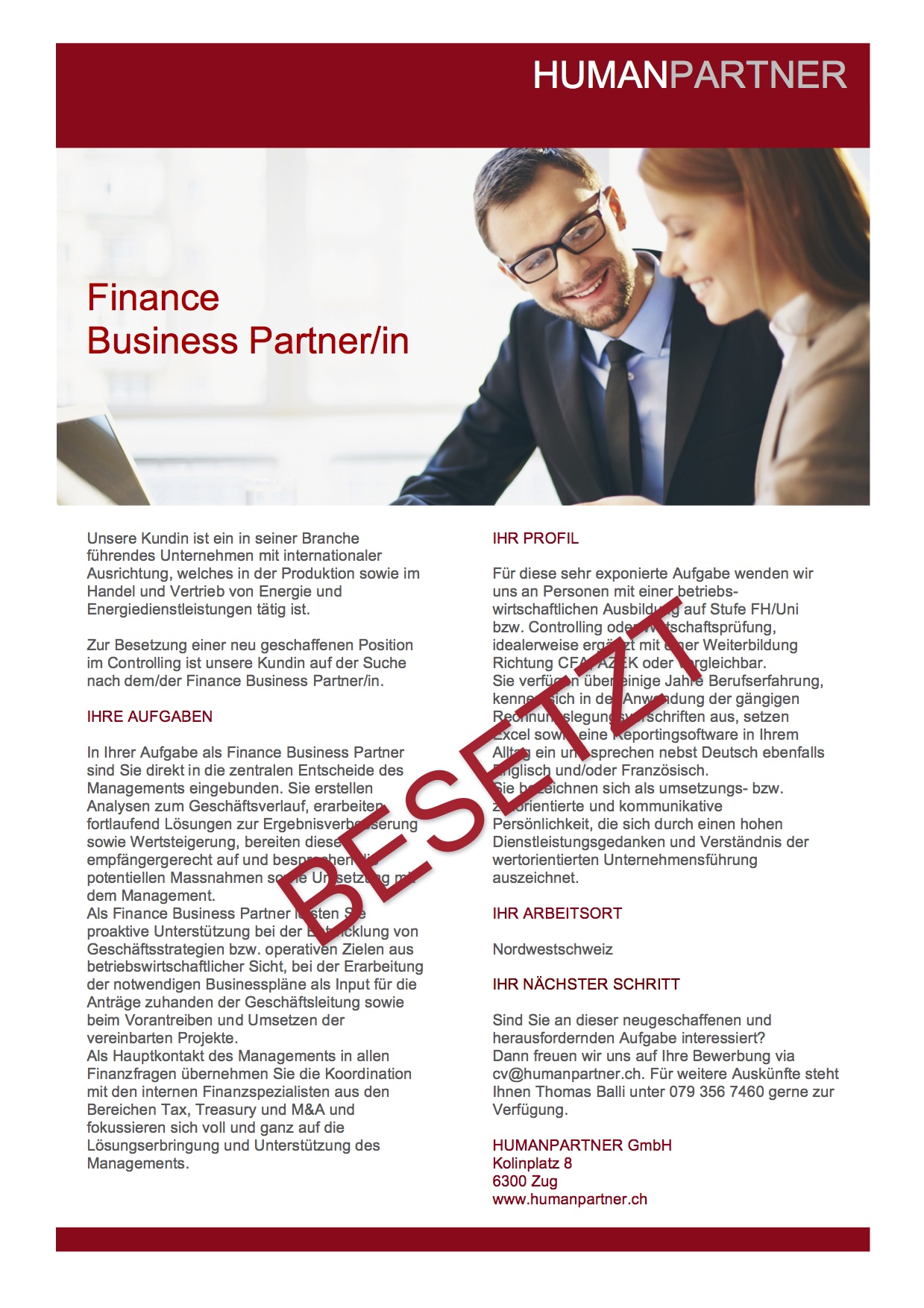 Finance Business PartnerIn neu