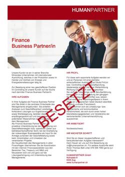 Finance Business PartnerIn neu