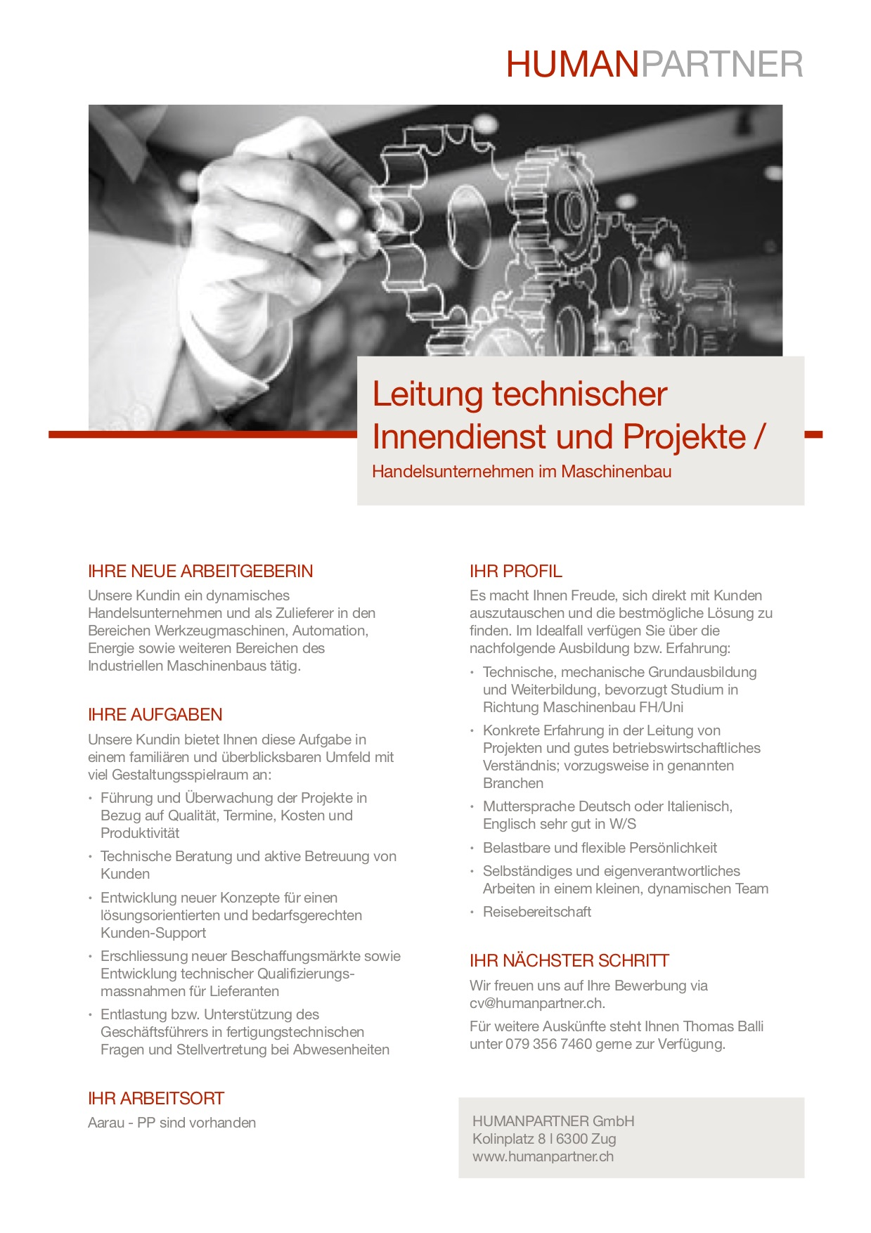 Leitung technischer Innendienst - 2018