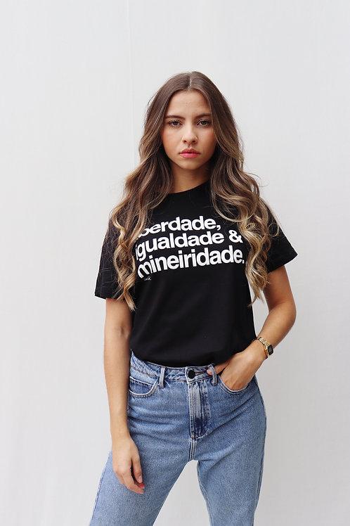 camiseta mineiridade preta