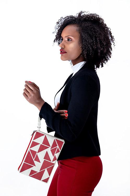 bolsa de mão triângulos