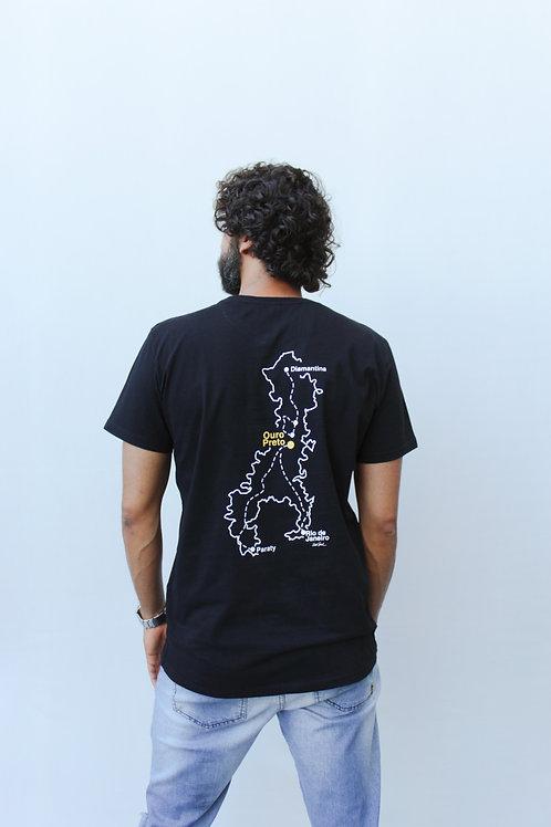 camiseta mapa estrada real