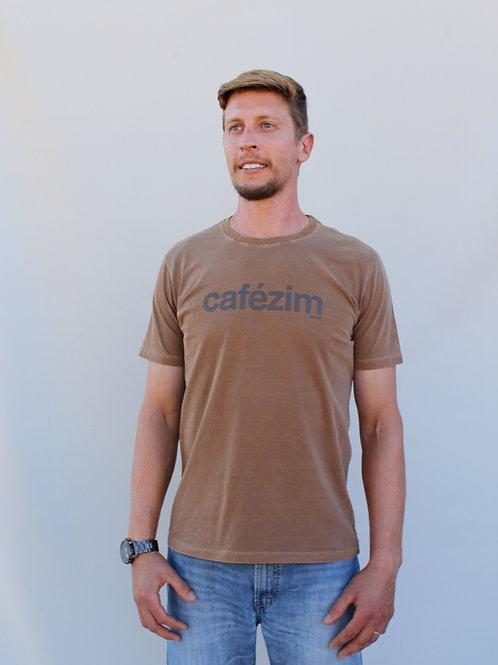 camiseta cafézim marrom