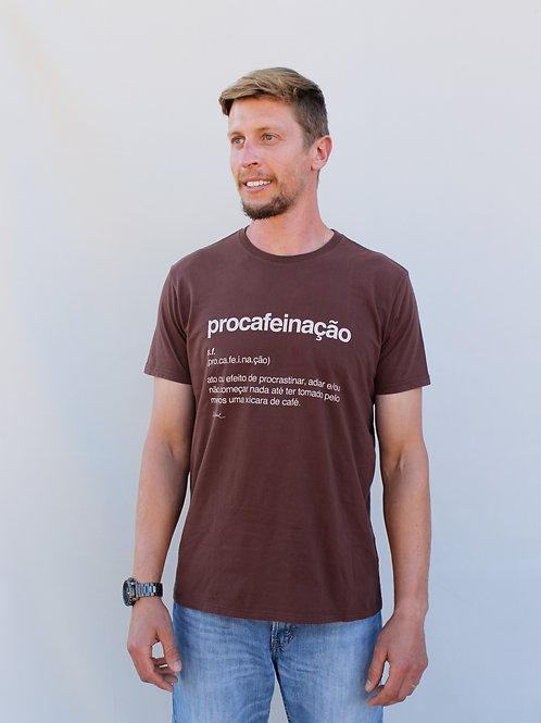 camiseta procafeinação marrom