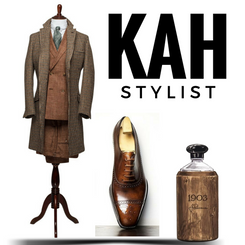 Ensemble by Articles of Style paired with handmade luxury Itailian leather shoes by Yohei Fukuda and to finish it off with a bottle of 1903 Vintage cologne