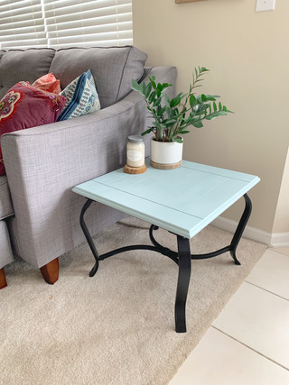 Refurbished End Table - Serenity Blue Chalk Paint