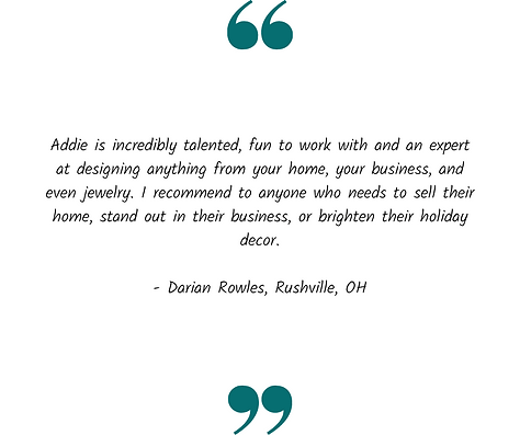 Staging and design testimonial