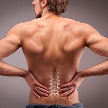 Man's back & spine