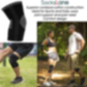 sockslane cotton compression knee sleeve
