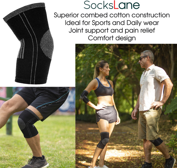 sockslane cotton compression knee sleeve