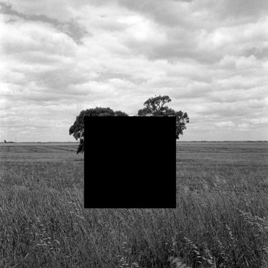 Inkjet print on hahnemuhle paper with hole removed to a black velvet void 50x50 cm